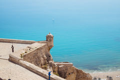 Alicante Santa Barbara Castle Royalty Free Stock Photo
