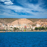 Alicante Santa Pola from Mediterranean sea Royalty Free Stock Photography
