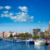 Alicante Santa Pola port marina from valencian Community Royalty Free Stock Image