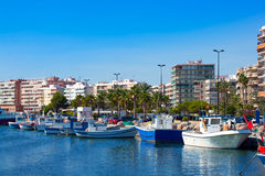 Alicante Santa Pola port marina from valencian Community Stock Photos
