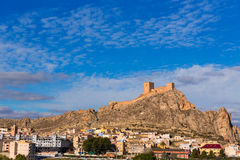 Alicante Sax village castle in Spain Royalty Free Stock Photo
