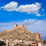 Alicante Sax village castle in Spain Stock Image