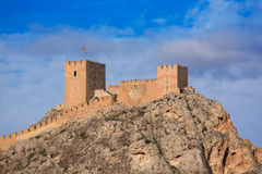 Alicante Sax village castle in Spain Royalty Free Stock Photos