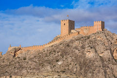 Alicante Sax village castle in Spain Stock Images