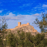 Alicante Sax village castle in Spain Royalty Free Stock Images