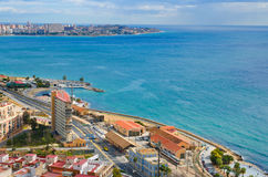 Alicante sea panorama, Valencia, Spain Stock Images