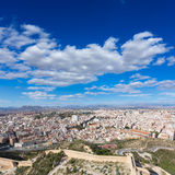 Alicante skyline aerial from Santa Barbara Castle Stock Images