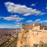 Alicante skyline aerial from Santa Barbara Castle Royalty Free Stock Photography
