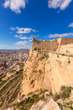 Alicante skyline aerial from Santa Barbara Castle Royalty Free Stock Photography