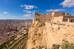 Alicante skyline aerial from Santa Barbara Castle Stock Images