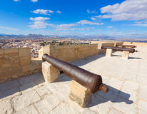 Alicante skyline in Santa Barbara Castle Stock Photo