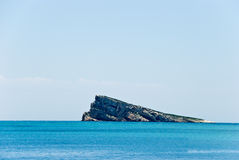 Alicante - Spain.Beach with little island Royalty Free Stock Images