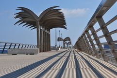 Alicante. Spain. Nice view of modern bridge. Royalty Free Stock Images