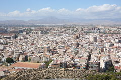 Alicante in Spain. Panoramic view over Alicante, Spain Stock Images