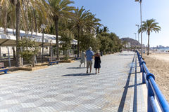 Alicante Spain seafront. Alicante South East Spain seafront Royalty Free Stock Images