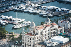 Alicante, Spain - SEPTEMBER 2015: Coast and Harbour Royalty Free Stock Photos