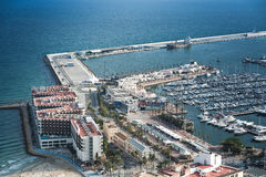 Alicante, Spain - SEPTEMBER 2015: Coast and Harbour Royalty Free Stock Images
