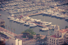Alicante, Spain - SEPTEMBER 2015: Coast and Harbour Stock Image