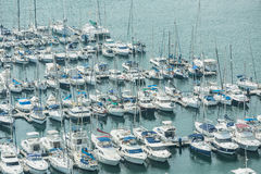 Alicante, Spain - SEPTEMBER 2015: Yachts and boats in Marina Royalty Free Stock Photos