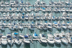 Alicante, Spain - SEPTEMBER 2015: Yachts and boats in Marina Royalty Free Stock Images