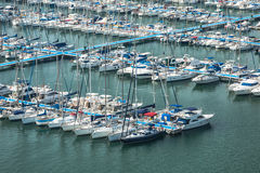 Alicante, Spain - SEPTEMBER 2015: Yachts and boats in Marina Stock Photo