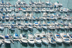 Alicante, Spain - SEPTEMBER 2015: Yachts and boats in Marina Royalty Free Stock Photo