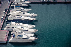 Alicante, Spain - SEPTEMBER 2015: Yachts and boats in Marina Stock Photography