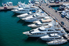 Alicante, Spain - SEPTEMBER 2015: Yachts and boats in Marina Royalty Free Stock Image
