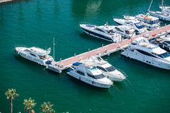 Alicante, Spain - SEPTEMBER 2015: Yachts and boats in Marina Stock Photos