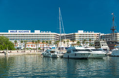 Alicante, Spain - SEPTEMBER 2015: Yachts and boats in Marina Stock Image