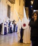 Alicante, Spanien 25. März 2016 Ostern-Prozession Lizenzfreie Stockfotografie