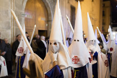 Alicante, Spanien 25. März 2016 Ostern-Prozession Lizenzfreies Stockfoto