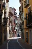 Alicante spanje De mening van Nice van een oude straat Stock Foto