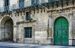 In an Alicante square royalty free stock photo