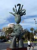 Alicante staden i Valensiysky den autonoma regionen, huvudstaden av landskapet av Alicante Skulpturen av spåman på Arkivbild