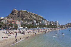 Alicante-Stadtstrand Lizenzfreies Stockfoto