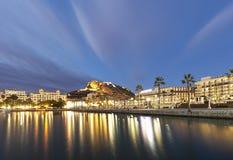 Alicante when the sun in winter Stock Image