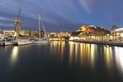 Alicante when the sun in winter Royalty Free Stock Photo