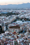 Alicante at sunset Royalty Free Stock Photo