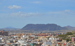 Alicante Surrounded By Mountains Royalty Free Stock Photo