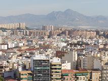 Alicante top view of the residential areas Stock Photography