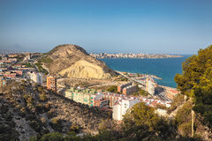 Alicante View from the Fortress of Santa Barbara. Royalty Free Stock Images