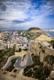 Alicante. View of Alicante seen from Santa Bàrbara Castle stock photo