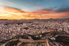 Alicante view at sunset. Time Royalty Free Stock Photo