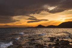 Alicante view at sunset. Time Stock Photography