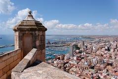 Alicante vom Schloss Stockbilder