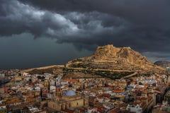 Alicante vóór onweer Stock Foto
