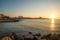 Alicante waterfront early morning royalty free stock photos