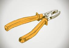 Alicates amarelos do vetor Ilustração Royalty Free