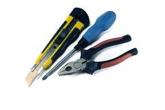 Alicates, chave de fenda, cortador Imagem de Stock Royalty Free